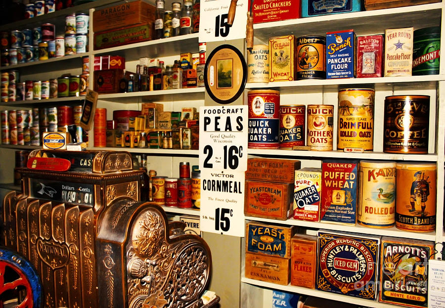 Antique Photograph - Colorado General Store Supplies by Janice Rae Pariza