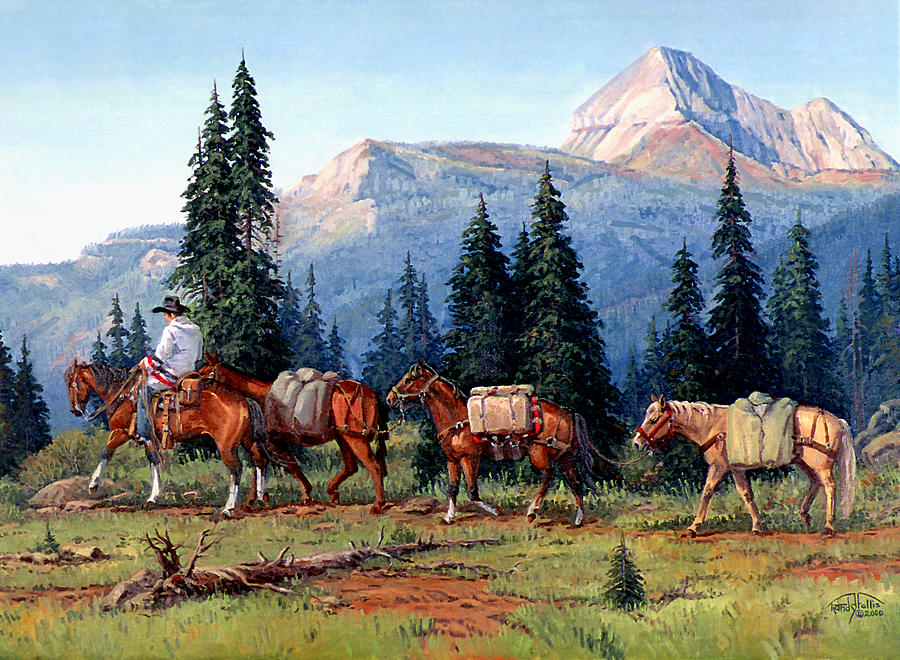 Cowboy Painting - Colorado Outfitter by Randy Follis