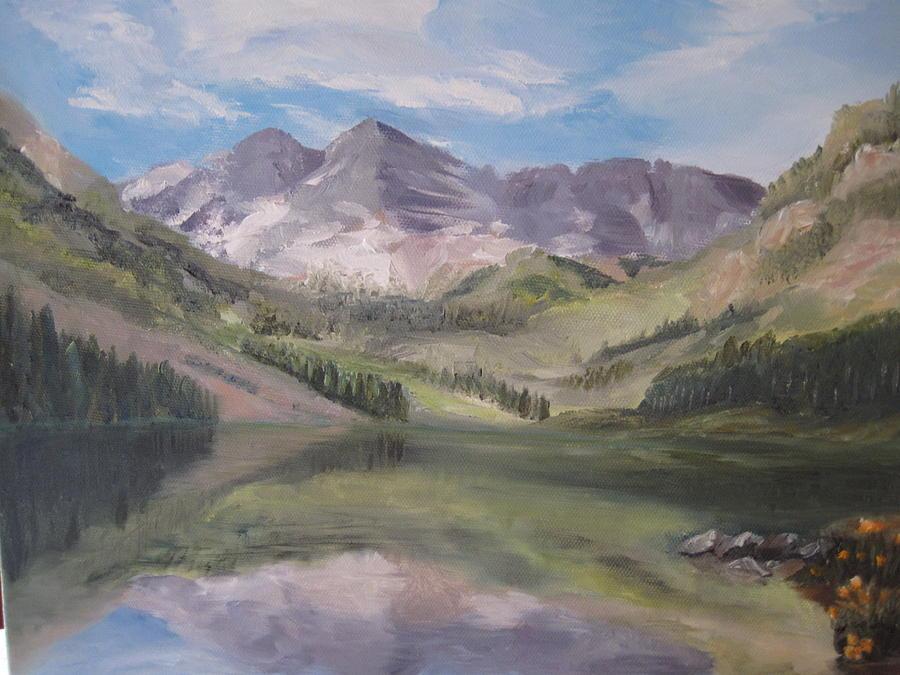 Colorado Reflections Painting by Roberta Rotunda