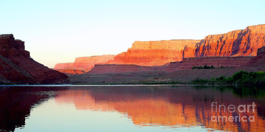 Colorado River Photograph - Colorado River At Dawn Panorama by Douglas Taylor
