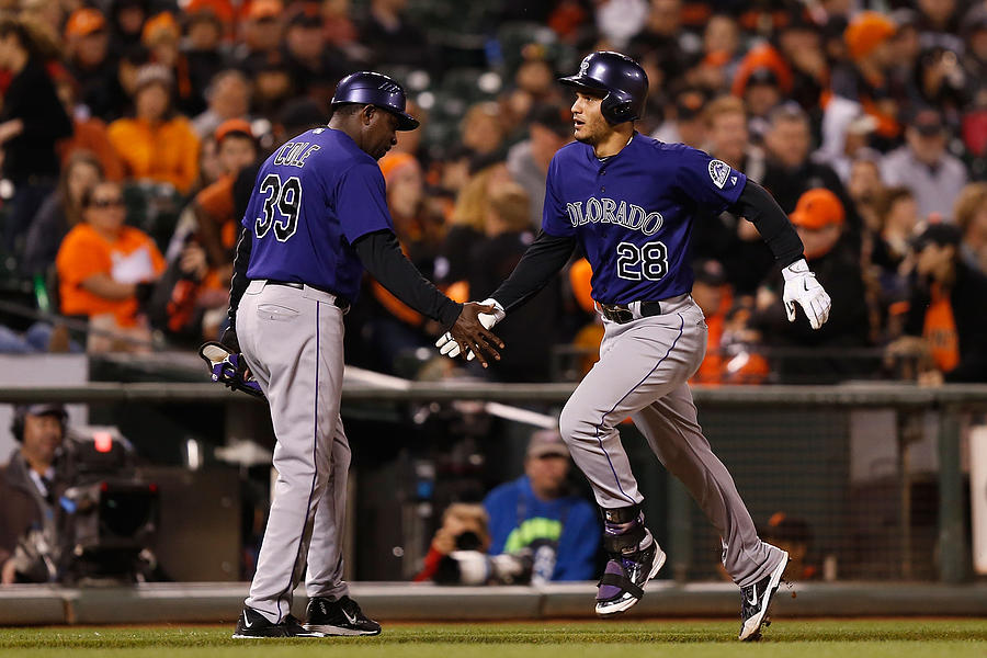 Colorado Rockies V San Francisco Giants Photograph by Lachlan Cunningham