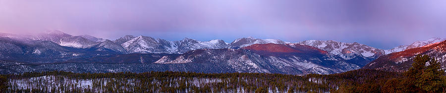 Colorado Rocky Mountain Continental Divide Sunrise Panorama Photograph