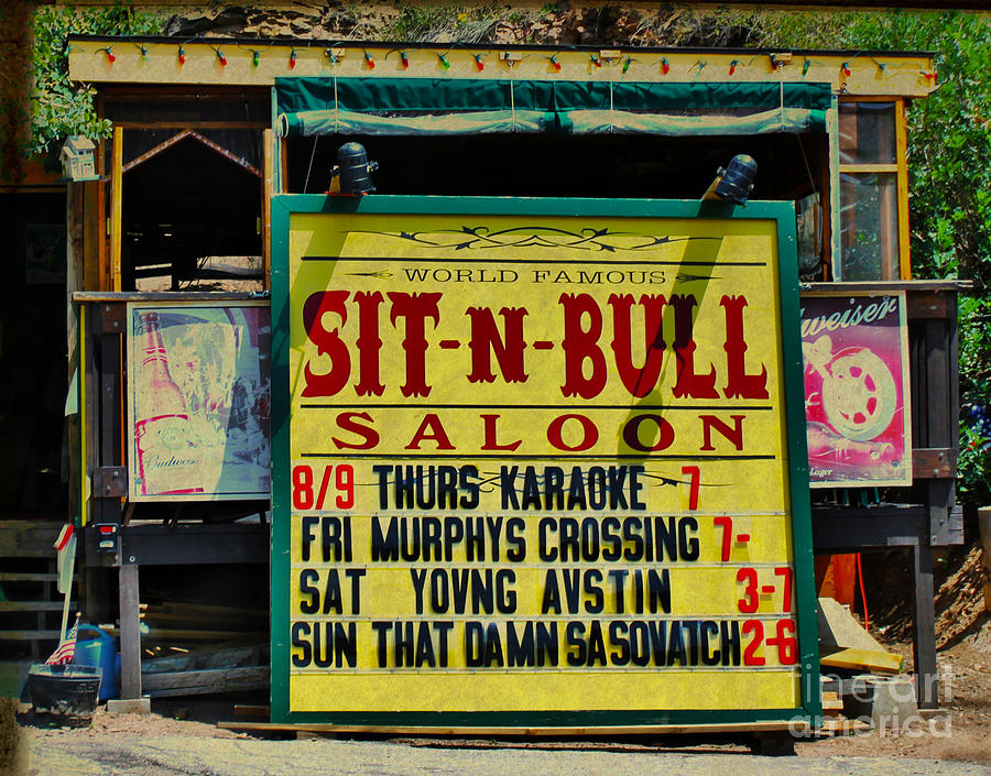 Colorado Photograph - Colorado Sit-n-bull Saloon  by Janice Rae Pariza