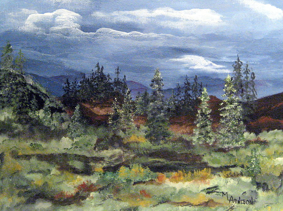 Landscape Painting - Colorado Skies by Mary Arneson