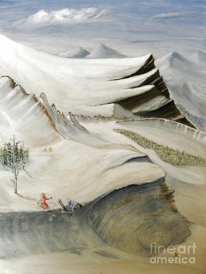 Southwestern Painting - Colorado Skiing by Stephen Schaps