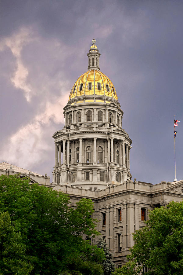Colorado Photograph - Colorado State Capitol Building Denver Co by Christine Till