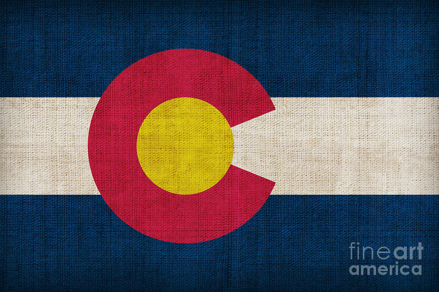 Colorado Painting - Colorado State Flag by Pixel Chimp