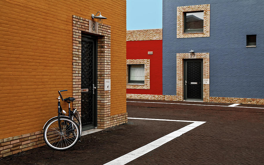 Colors Photograph - Colored Facades by Gilbert Claes