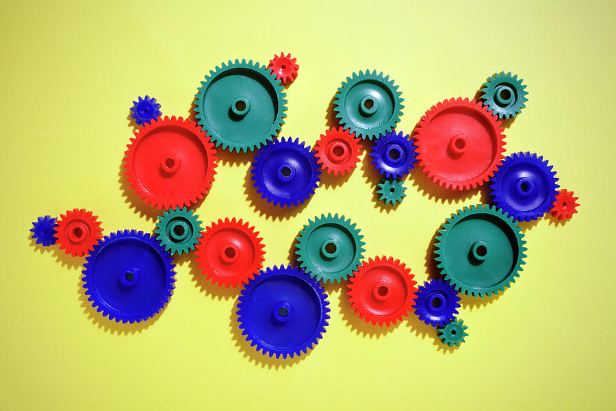 Colored Gears Photograph by Joseph Clark