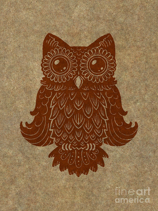 Owl Painting - Colored Owl 2 Of 4  by Kyle Wood