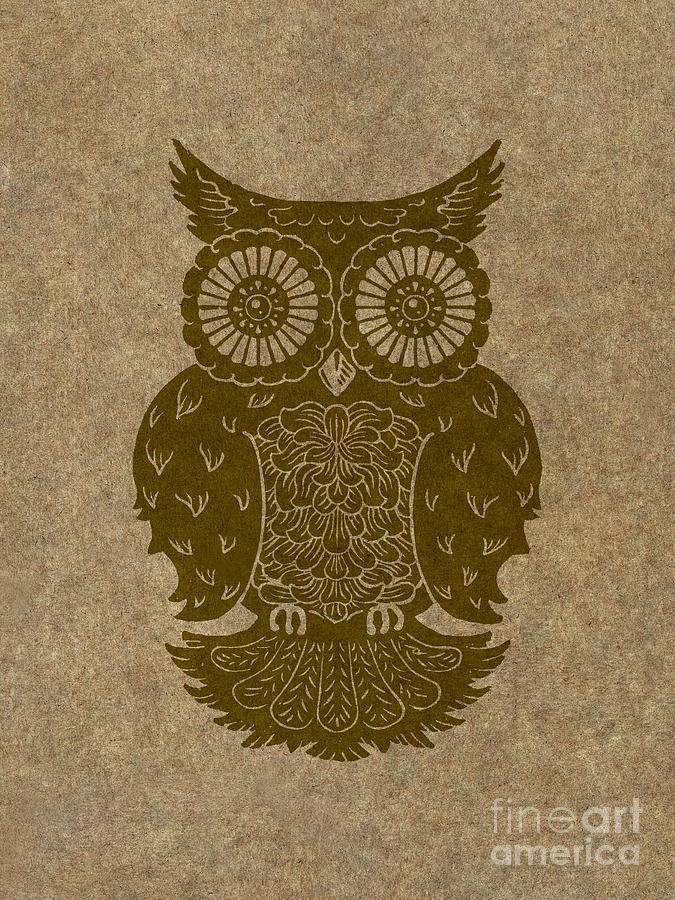 Owl Painting - Colored Owl 3 Of 4  by Kyle Wood