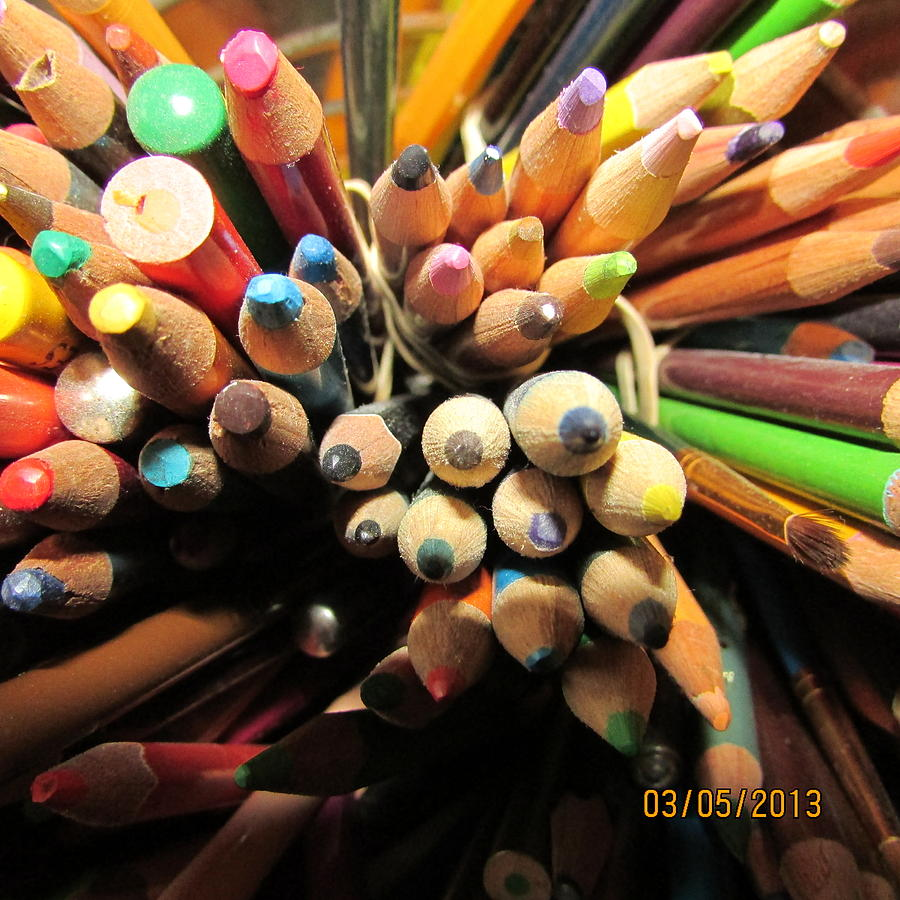 Macro Photograph - Colored Pencils by Jaime Neo