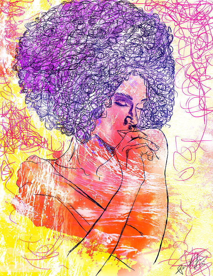 Abstract Women Digital Art - Colored Woman by Kenal Louis