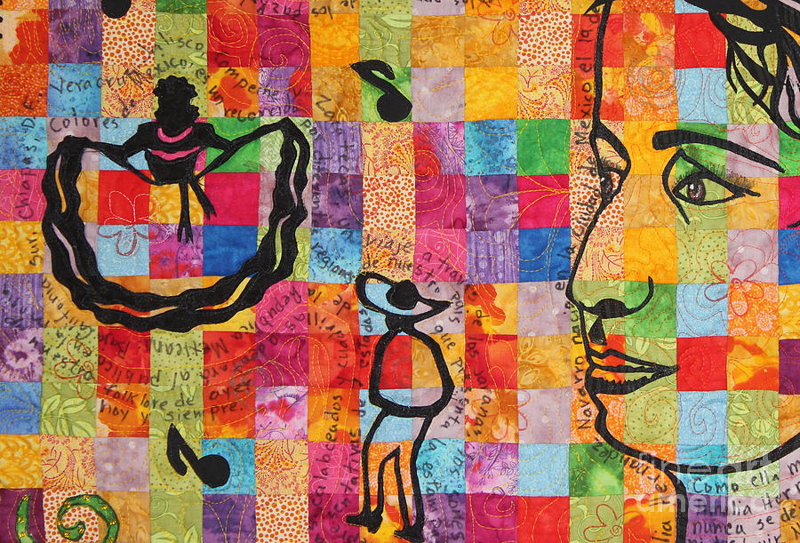 Colores de Mexico Quilt detail by Sonia Flores Ruiz