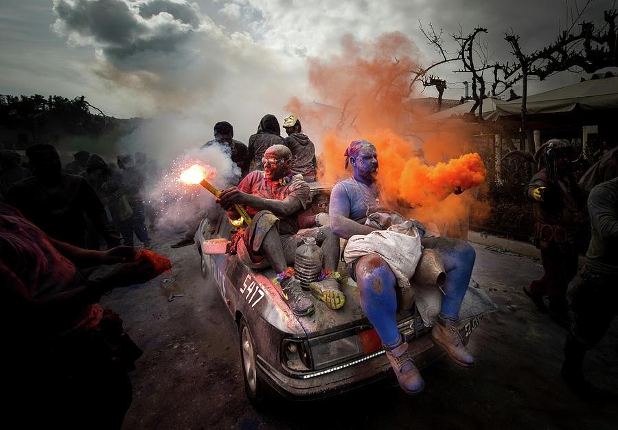 Action Photograph - Colorflour Galaxidi, Greece. by Orestis Zoumpos