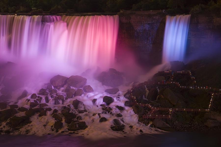 Blue Photograph - Colorful American Falls by Adam Romanowicz