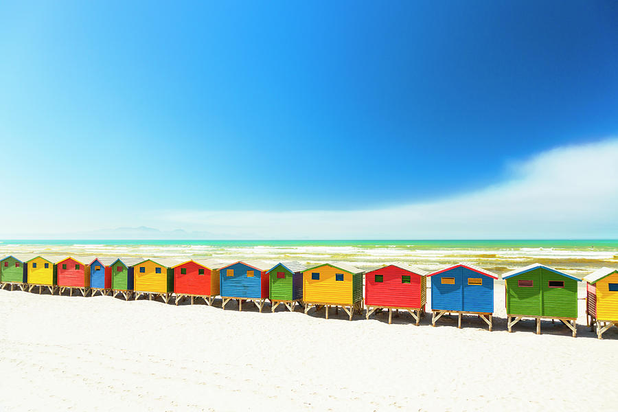 Colorful Beach Houses In Muizenberg Photograph by Spooh