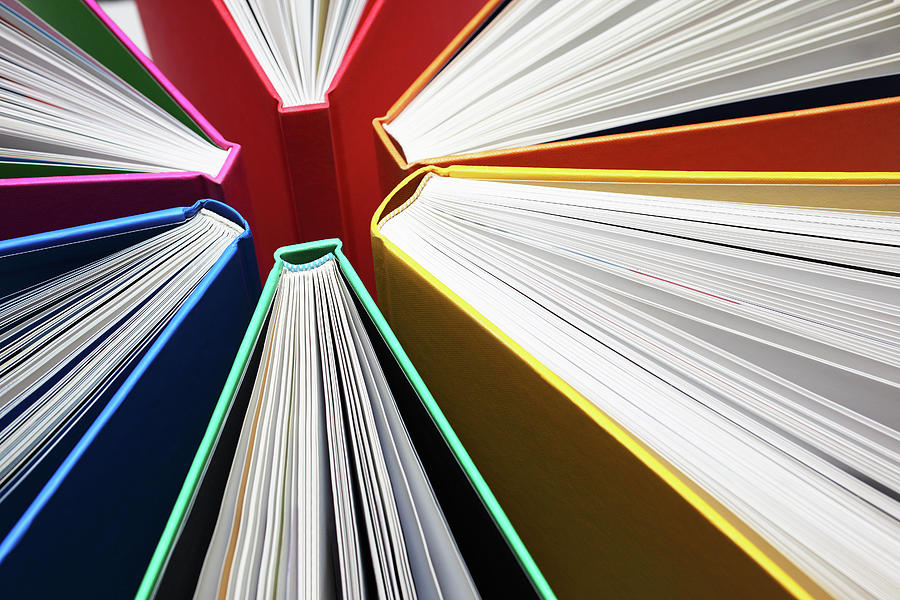 Colorful Books Abstract Photograph by Blackred