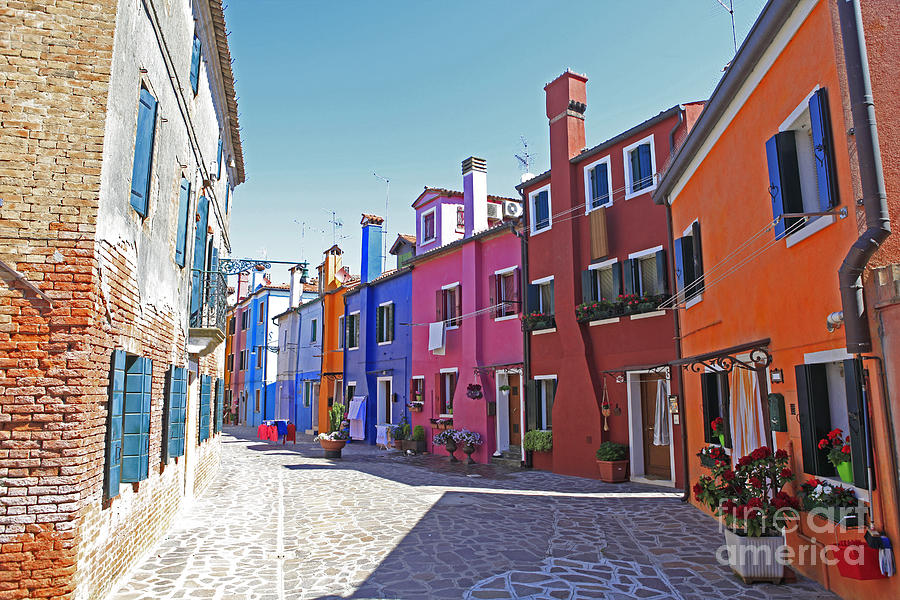 Burano Photograph - Colorful Burano by Ernst Cerjak