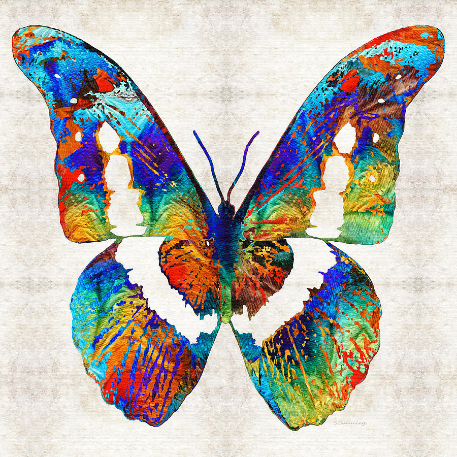 Colorful Butterfly Art By Sharon Cummings Painting By