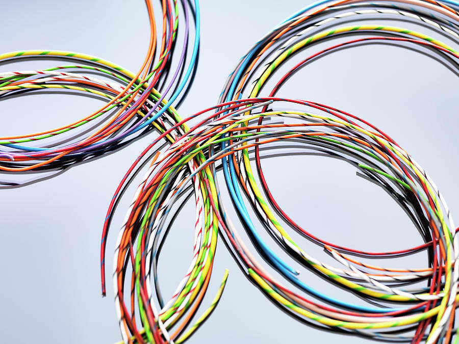 Colorful Cables Used In Electrical And Photograph by Andrew Brookes