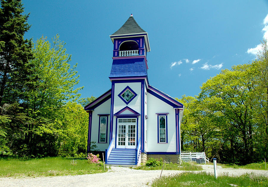 Church Photograph - Colorful Church by Cathy Kovarik