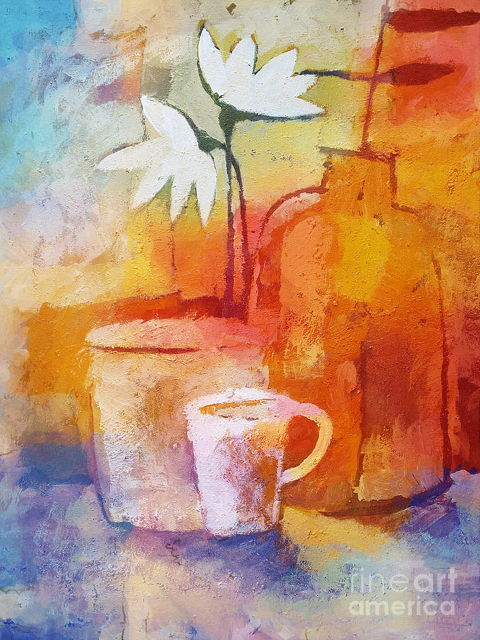 Still Life Painting - Colorful Coffee by Lutz Baar