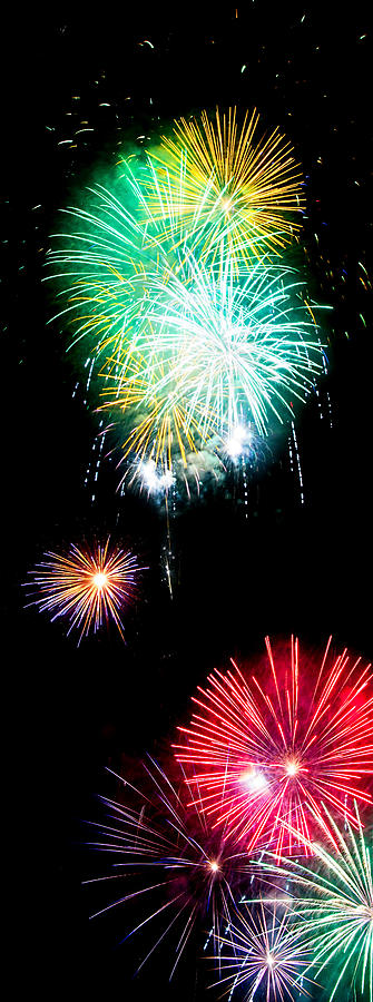 Fireworks Photograph - Colorful Explosions No3 by Weston Westmoreland