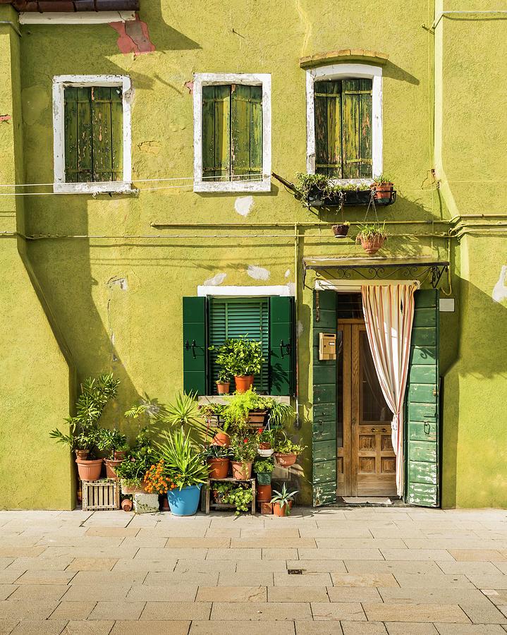 Colorful Facade – Burano, Italy Photograph by Corystevens