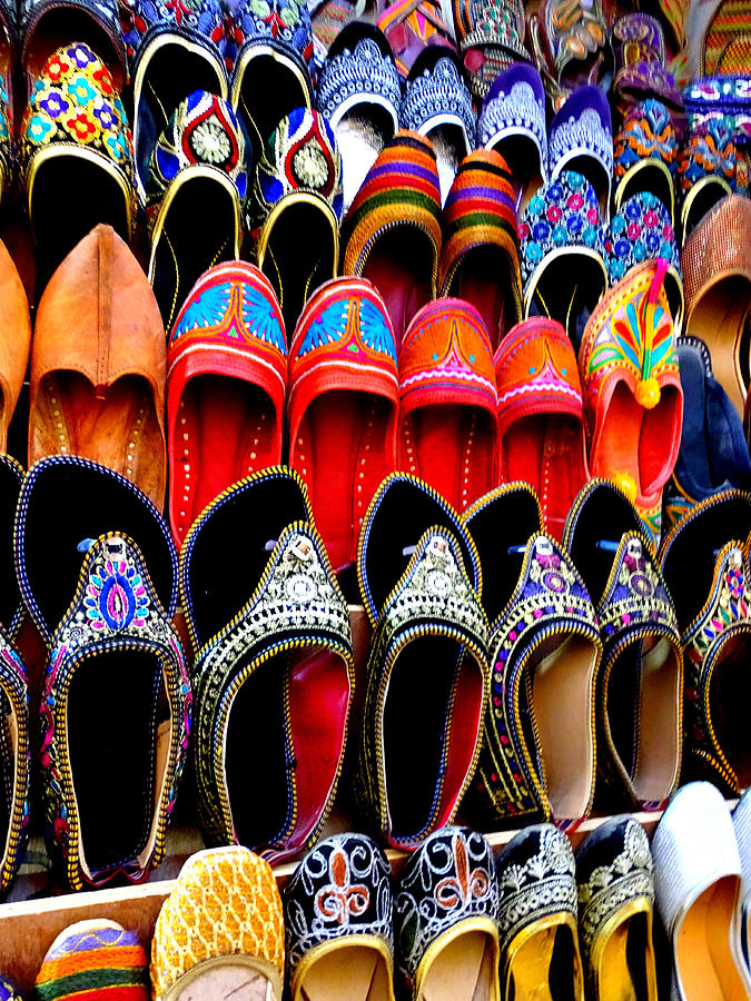 e897073134d5 Colorful Footwear Juttis For Sale Jaipur Rajasthan India Photograph ...