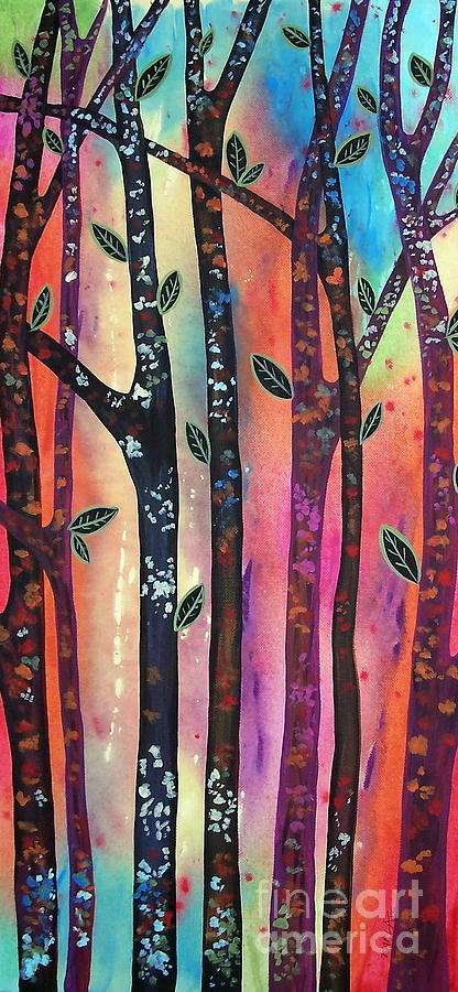 Landscape Painting - Colorful Forest by Karla Gerard