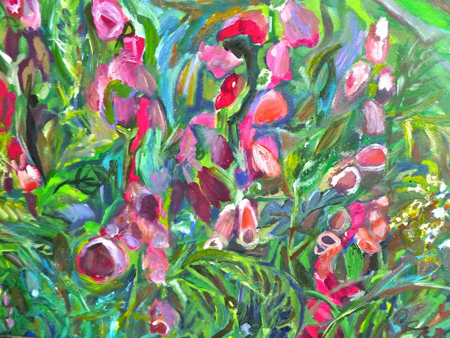 Colorful Foxgloves by Kerry Jean Pennings