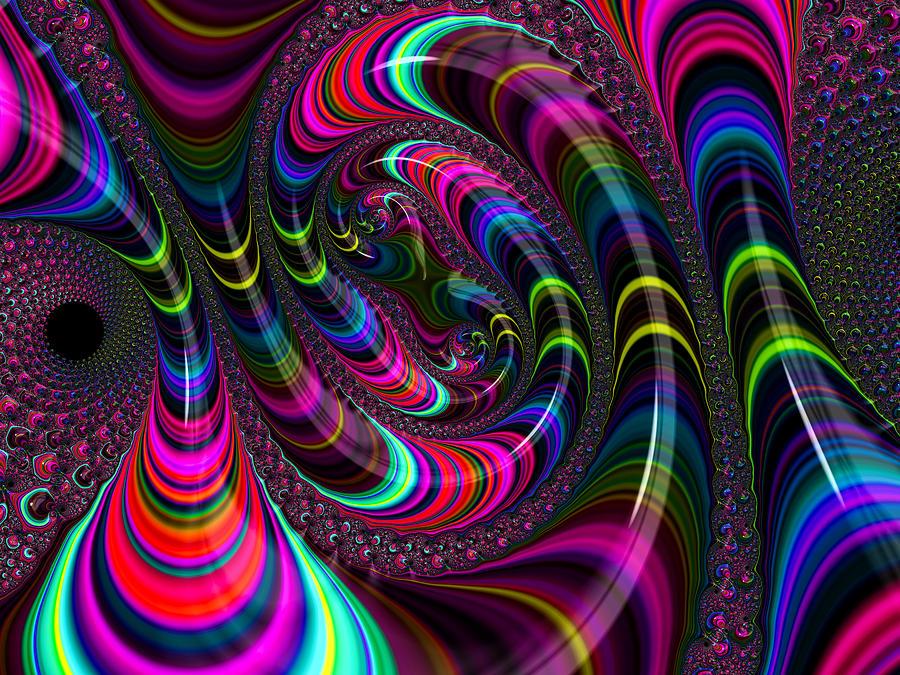 Colorful Fractal Art Digital Art By Matthias Hauser