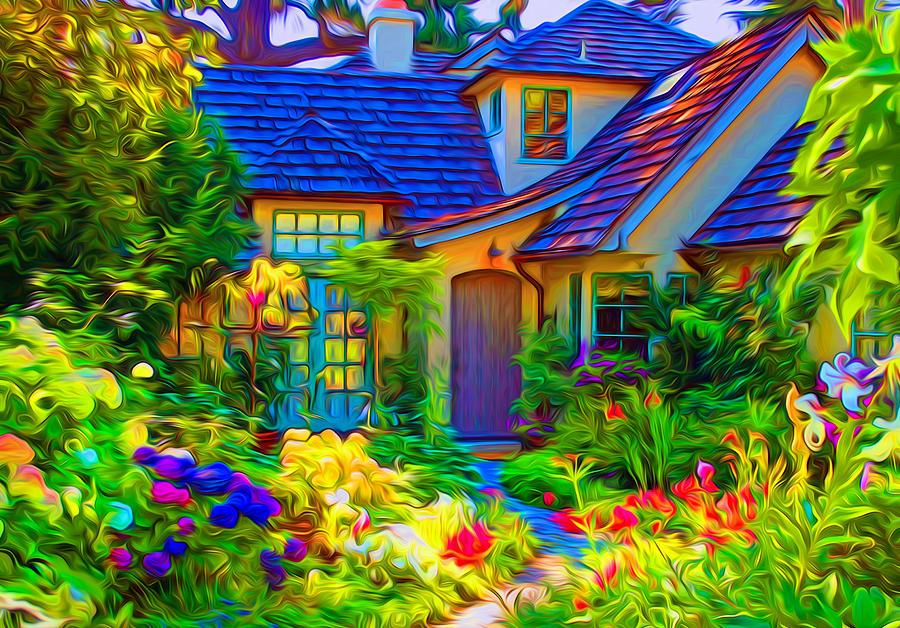 Colorful Garden Meltdown Photograph by Ron Fleishman Colorful Garden