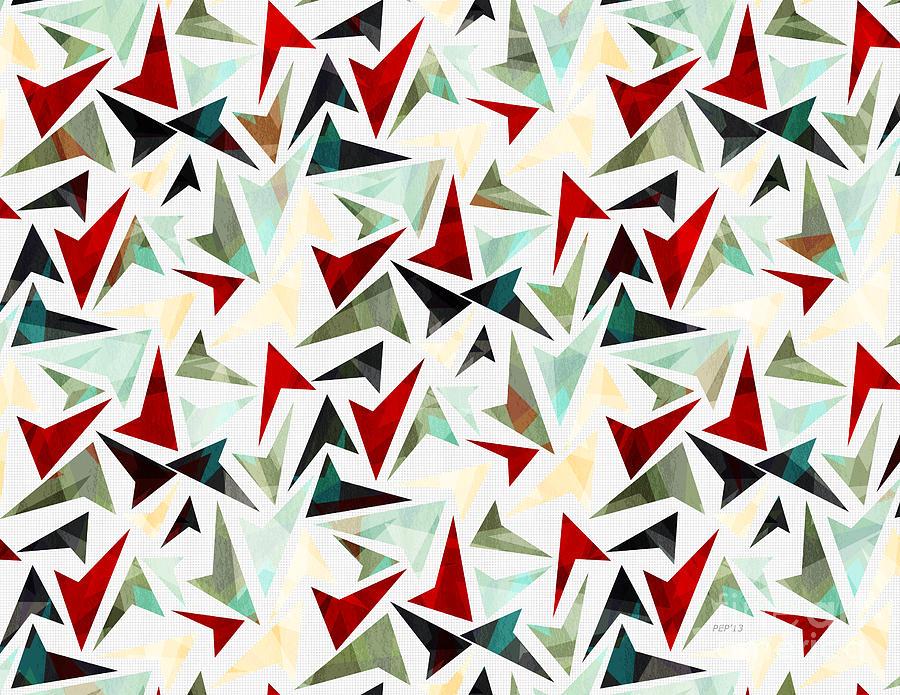colorful geometric shapes pattern digital art by phil perkins
