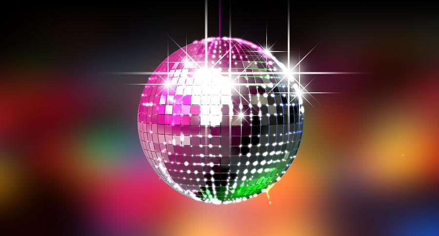 Colorful Glinting Disco Ball Digital Art By Allan Swart
