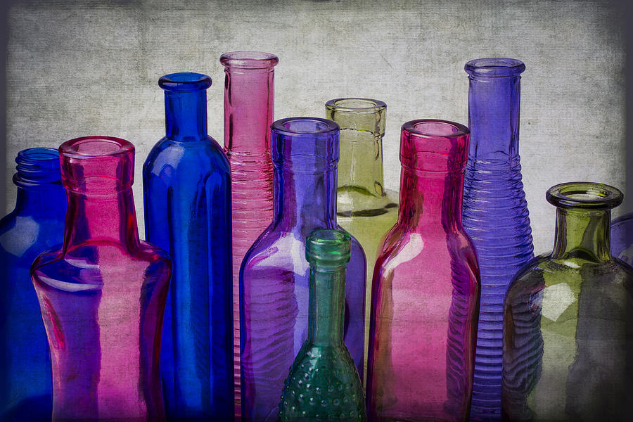 Colorful Photograph - Colorful Group Of Bottles by Garry Gay