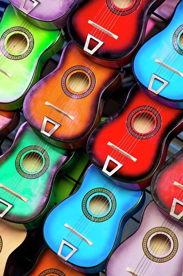 Colorful Guitars Photograph by Gabriel Perez