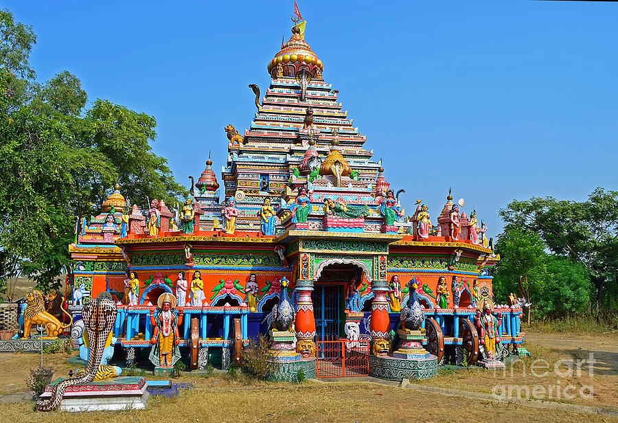 Colorful Hindu Temple Photograph by Image World