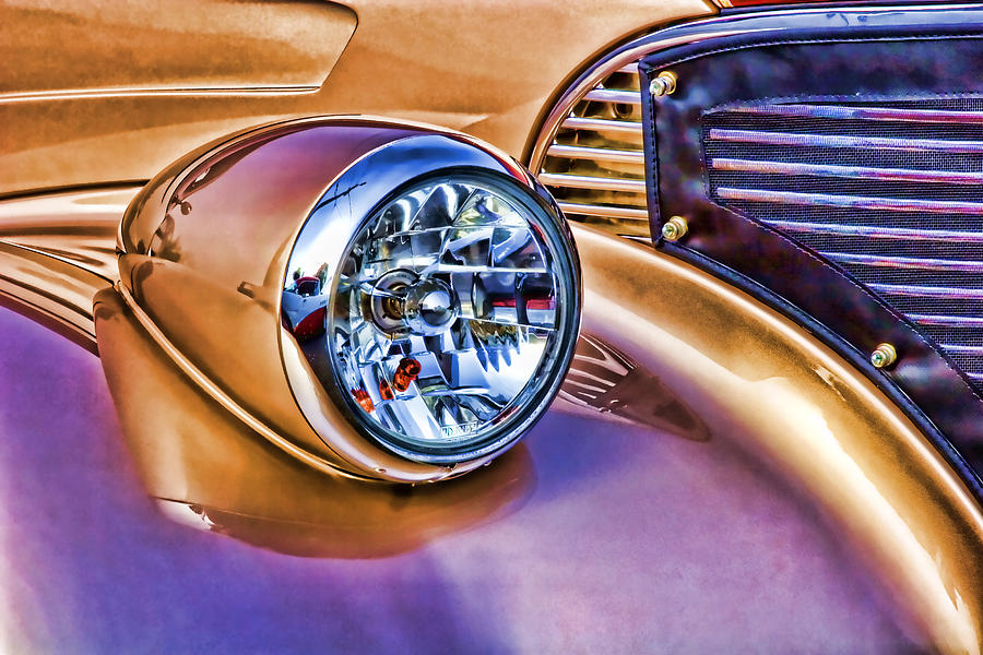 Color Photograph - Colorful Hotrod by Carol Leigh