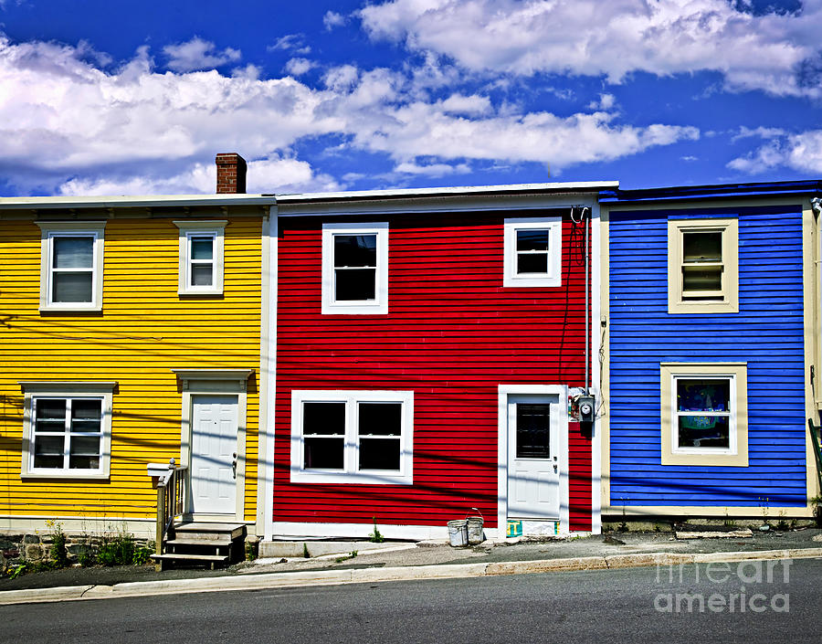 Colorful houses in st john 39 s newfoundland photograph by for Home plans newfoundland