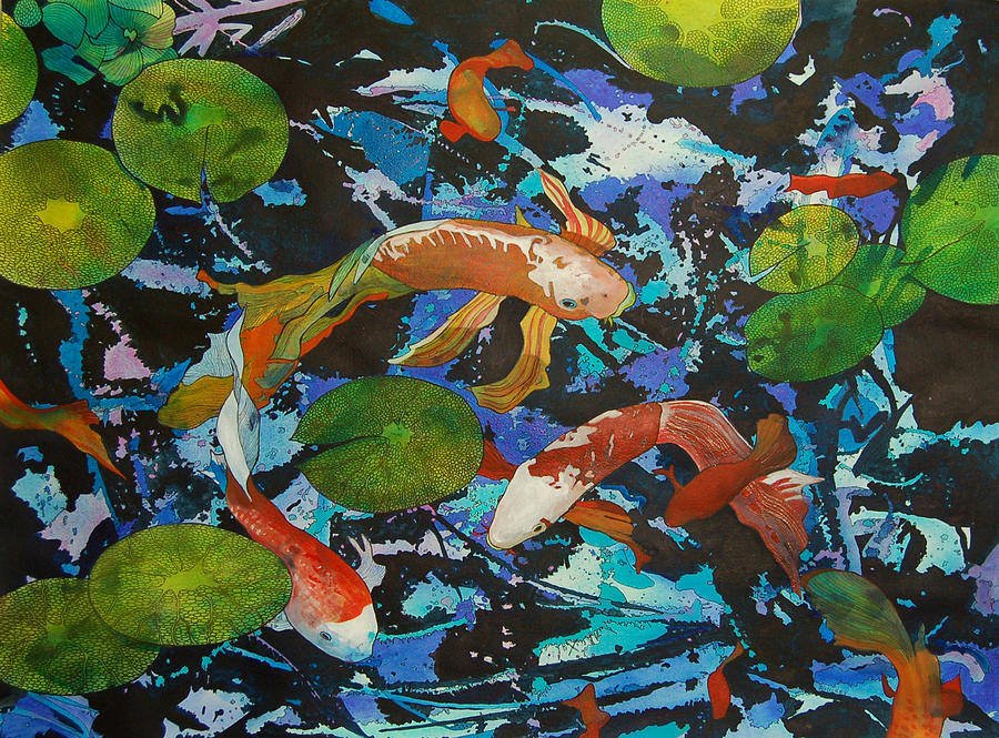Colorful Koi by Terry Holliday