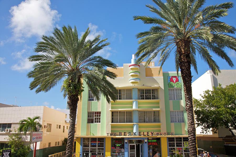 Colorful Landmark Art Deco Hotel Photograph by Barry Winiker