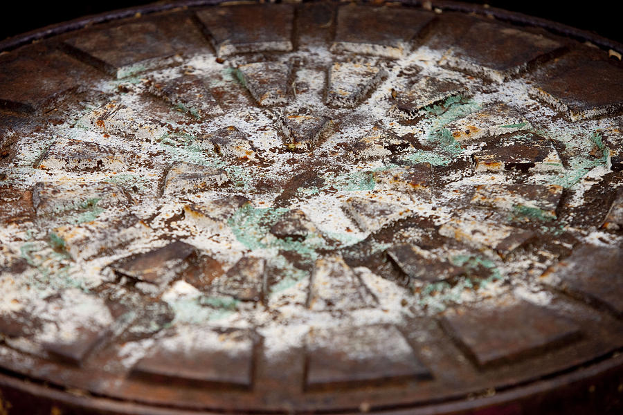 Rust Photograph - Colorful Lid by Rod Flasch