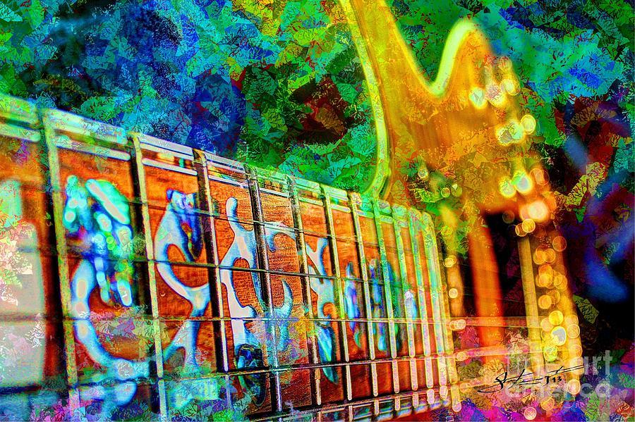 Guitar Photograph - Colorful Music Digital Guitar Art By Steven Langston by Steven Lebron Langston