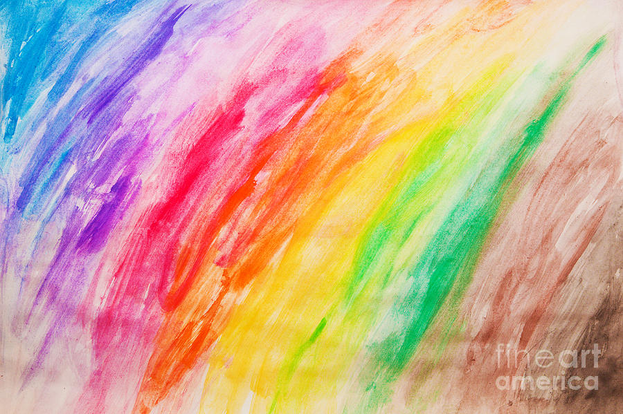Paint Photograph - Colorful Painting Pattern by Michal Bednarek