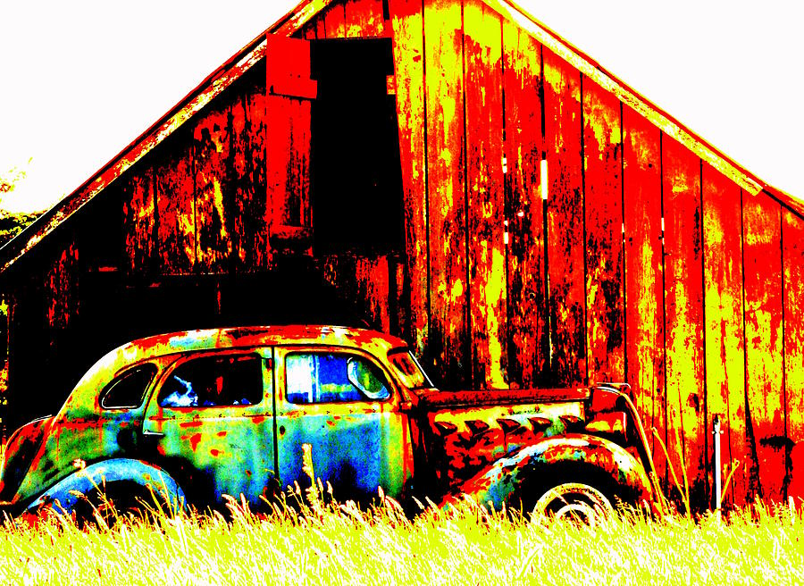 Jalopy Photograph - Colorful Past by Mamie Gunning