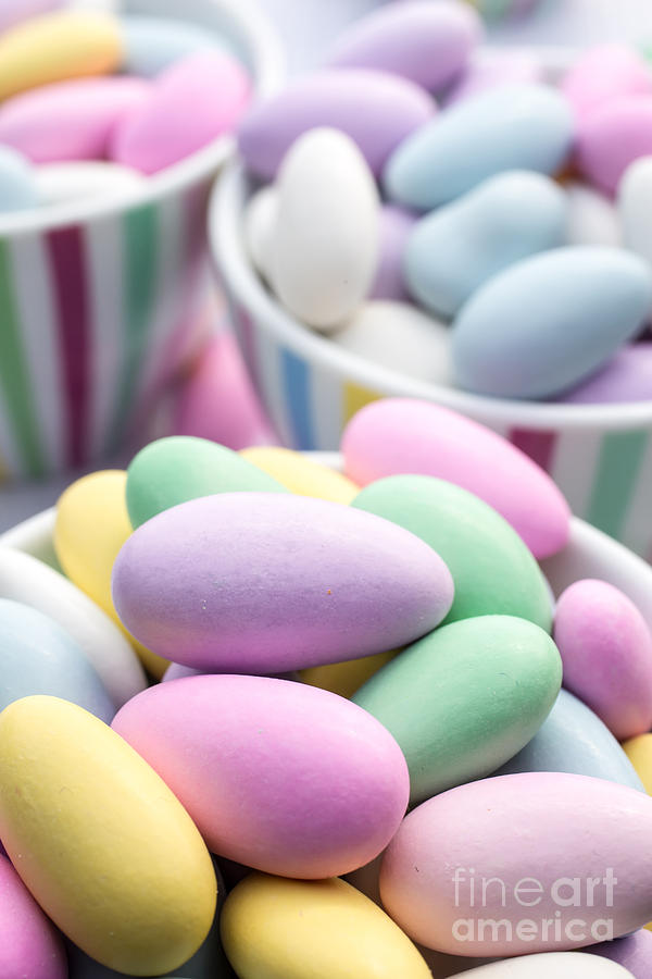 Food Photograph - Colorful Pastel Jordan Almond Candy by Edward Fielding