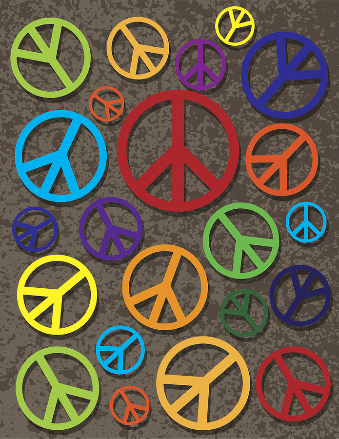 Colorful Peace Symbol On Texture Background Photograph By Jit Lim