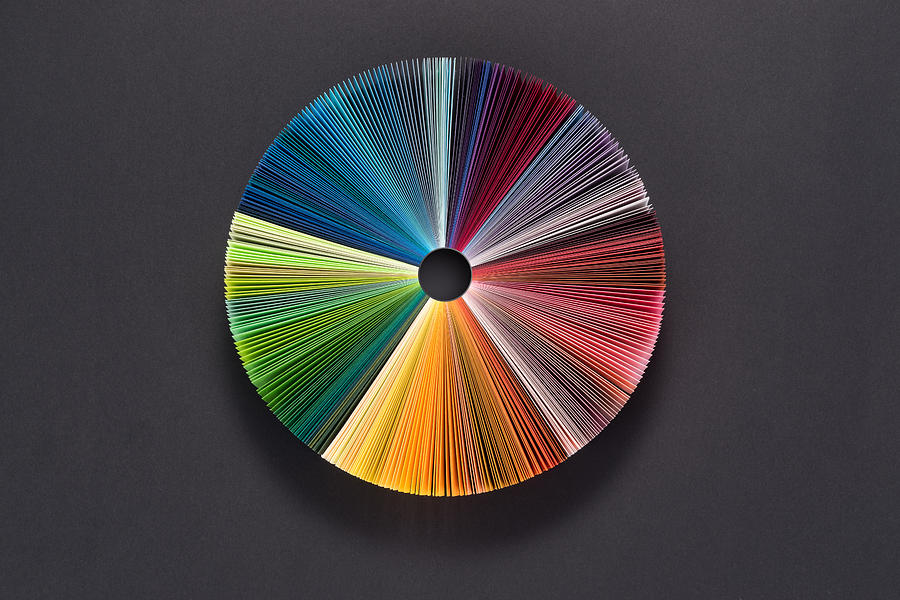 Colorful Pie Chart Consists of Paper Pages Photograph by MirageC